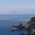 佐多岬から見える開聞岳