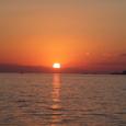 有明浜の夕日